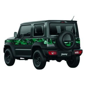 Set di adesivi camouflage verdi new Jimny